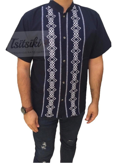 Camisa Guayabera Artesanal De Manta Bordado Adulto Y Niño