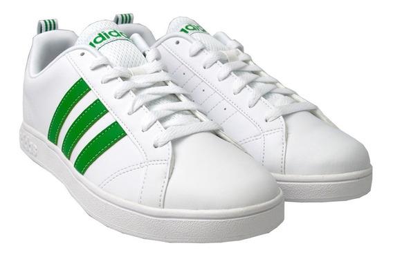 Tenis adidas Hombre Blanco Verde Vs Advantage D97609
