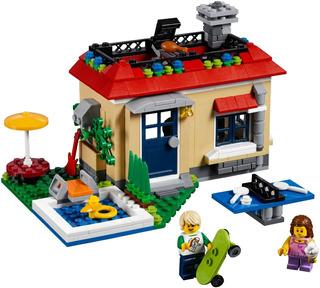 Lego Creator 31067 Modular Poolside Holiday Nuevo 3 Modelos