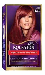 Tintura Wella Koleston Kit Permanente Rojo Cereza 6646