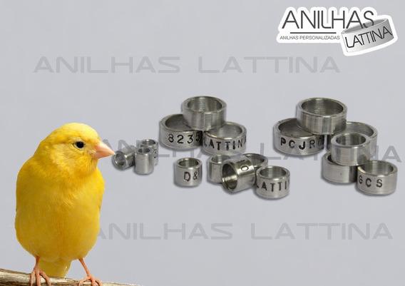Anilhas Canário 3.0 Mm Alumínio Lattina 10 Uni Personalizada
