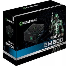 Fonte Gamemax Gm500 Preta 80 Plus Bronze 500w Pfc Ativo Nfe