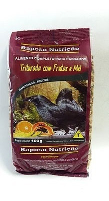 Pássaro Preto Triturada Frutas 4kg Ração Raposo Nutrição D33