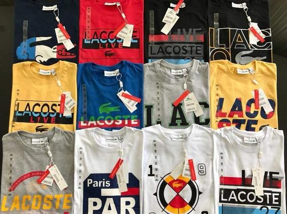 Kit 5 Camisetas Masculina Lisas E Estampadas Diversas Marcas