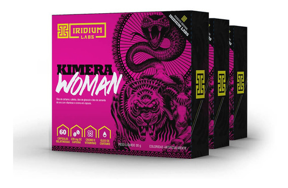 Kimera Woman - 60 Comps - Kit 3 Caixas - Termogênico