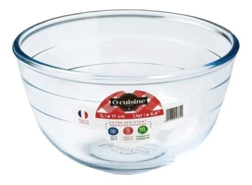 Imagen 1 de 2 de Bowl De Vidrio O' Cuisine - 1 L - Apto Microondas / Lauacu