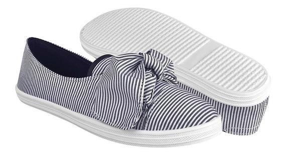Zapatos Capa De Ozono De Mujer Casuales 393007-2 Marino