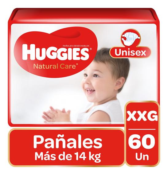 Pañales Huggies Natural Care Unisex 60 Unidades Talla Xxg