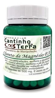 Capsula Cloreto De Magnésio Pa 500mg - 60 Capsulas