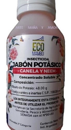 Imagen 1 de 3 de Jabon Potasico Canela Y Neem 100 Cc Ecombambo Mosca Blanca