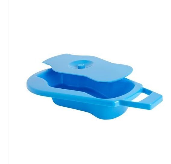Comadre Plastica 2l Fácil Higienização Urina Fezes C/ Tampa