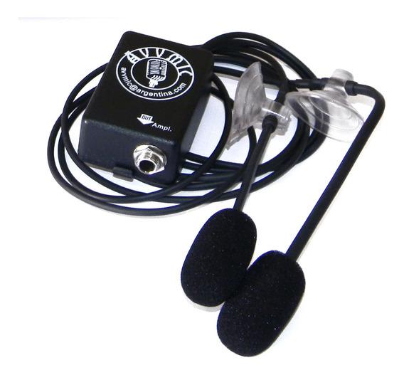 Microfono P/ Bandoneon Avvmic Condenser 2 Capsulas Envios