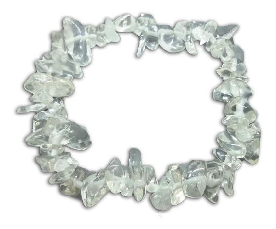 Pulseira De Cascalho De Pedra Cristal Natural