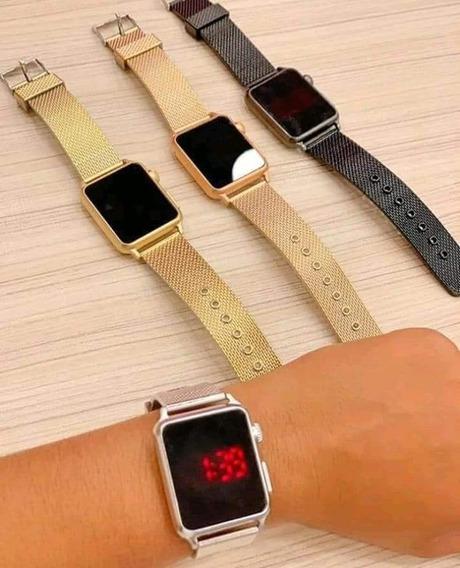 Lote 10 Relógios Digital Touch Quadrado Feminino Atacado