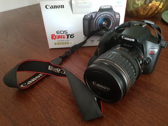 Camera Canon T6 + Lente 28-135mm