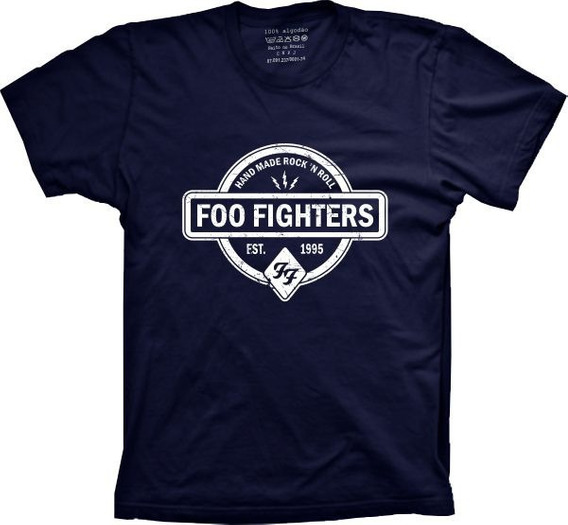 Camiseta Foo Fighters Vários Tams. Plus Size G1 G2 G3 G4