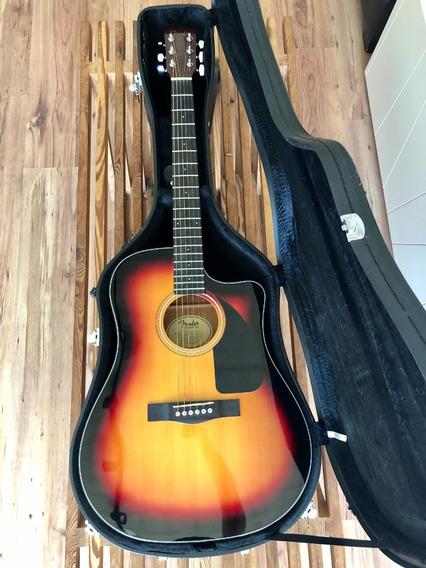 Guitarra Electroacústica Fender Cd 60 Ce C/estuche Rígido