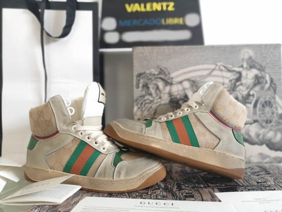 Tenis Gucci Screener Gg High-top Sneakeren Caja Gucci Gang