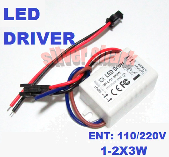 Fonte Driver Drive P/ 1 A 2 Leds 3w 110v / 220v