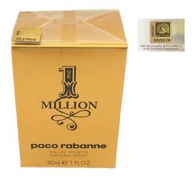 Perfume 1 One Million Edt 30ml - 100% Original Selo Adipec