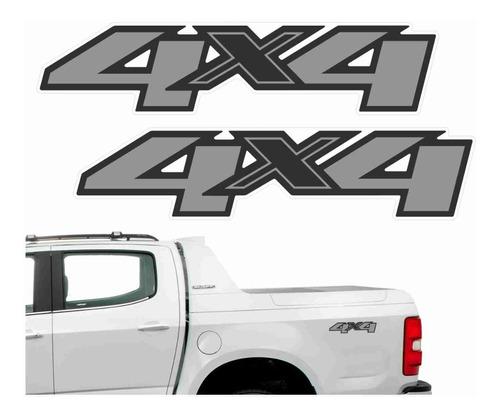 Adesivo 4x4 Chevrolet S10 2012 2013 2014 2015 2016 2017 2018