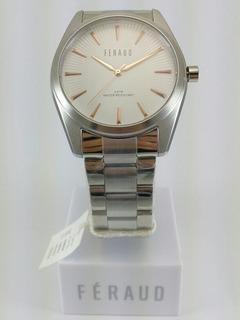 Reloj Feraud 42mm Sumergible 30m Acero Hombre Cuadrante Text