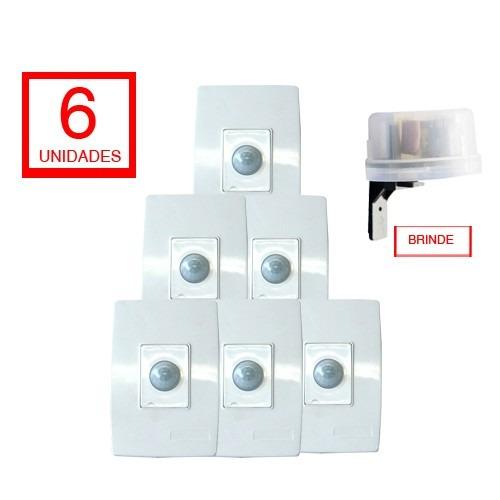 Sensor De Presença Espelho Capte - 6 Unid. 01 Relé Brinde
