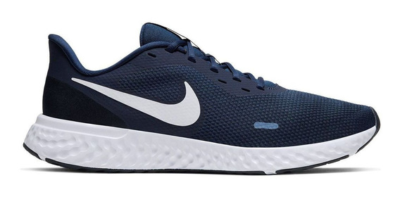 Tênis Nike Revolution 5 Marinho E Branco
