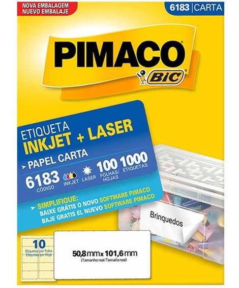 Etiqueta 6183 50x101mm 1000 Etiquetas 100fls Pimaco