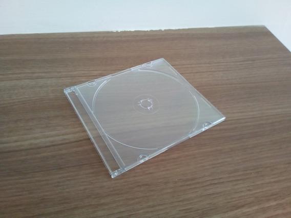 300 Estojos Em Acrílico Cd Box Slim Transparentes