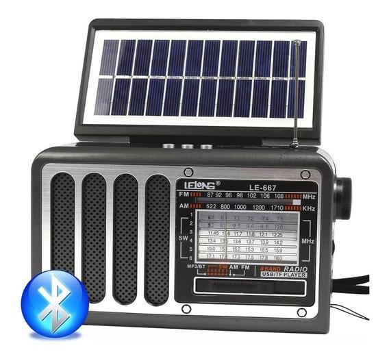 Caixa De Som Portátil Bluetooth Retro C/carregamento Solar