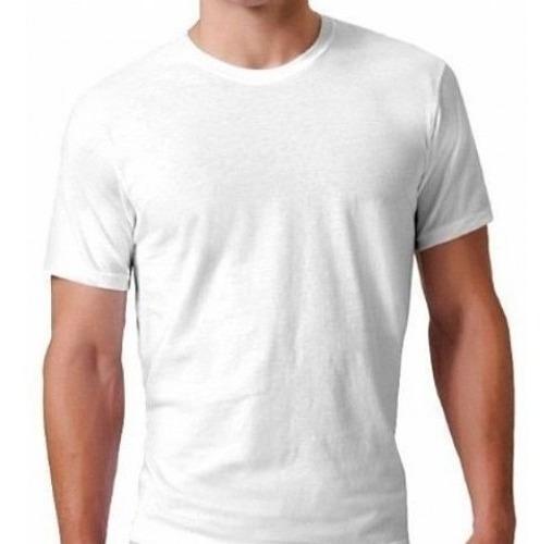 Camisa Básica Masculina Malha Preta Ou Branca