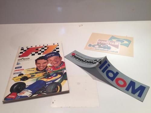 Revista Antiga Fórmula 1 Gp Brasil De 1995 Com Adesivos