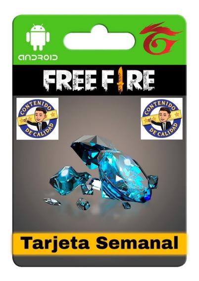 Tarjeta Semanal Free Fire