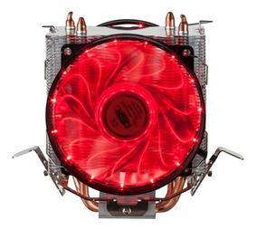 Cooler Duplo Para Cpu Vermelho / Azul 15 Leds Dx-9115d Novo