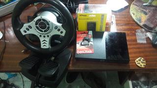 Playstation 2,ps2,play2 Com O Kit P L,volante E Brinde