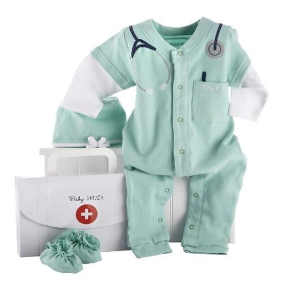 Conjunto Para Bebé 3 Piezas Médico Maletín 0-6 Meses