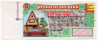 Lotería De Bogotá Operación Navideña 1978