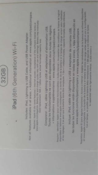 iPad 6ta Generación - 32 Gb