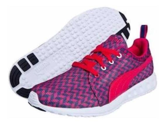 Tênis Puma Carson Runner Glitch Rosa 36br