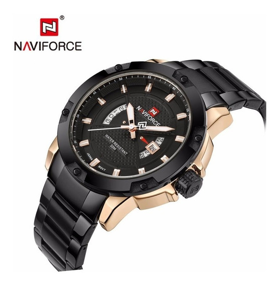 Relógio Naviforce Nf9085, Metal, Preto , Original