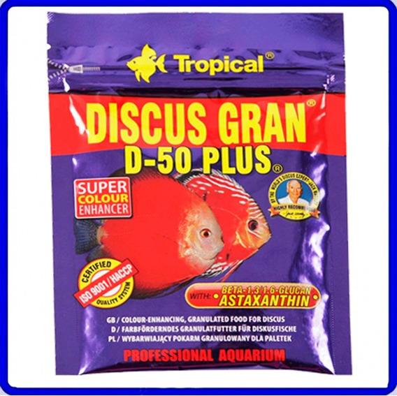 Ração Discus Gran D-50 Plus 20g Tropical Sachê P/aquário