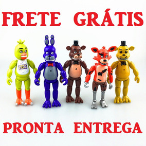 Five Night At Freddy Lote 5 Bonecos Coleção Kit Brinquedo Pm