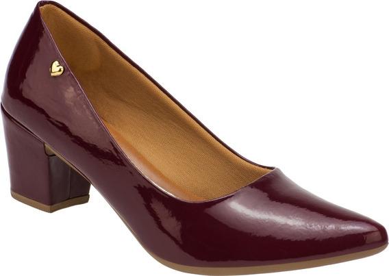 Sapato Feminino Scarpin Salto Baixo Grosso Confort | P02.scp