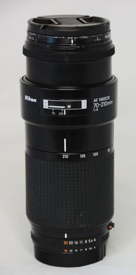Lente Nikon 70-210mm F4.0 Af Nikkor Fixa Em Todo O Range
