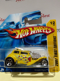 Hot Wheels Straight Pipes Amarelo ( First Editions 2007)