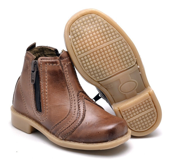 Bota Country Infantil Texana Masculina Couro Legitimo Kids