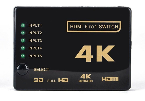5 Portas Hdmi Splitter Cabo Multiswitch Hdmi 4 K Switcher Sp