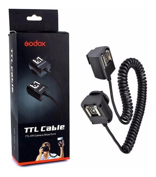 Cabo Ttl Para Flash Canon Com 3 Metros Tl-c Godox