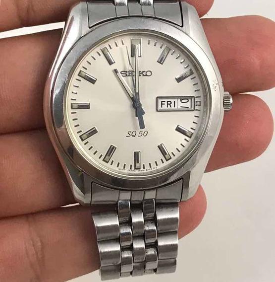 Relógio Vintage Seiko Sq 50 Safira 7n48-8a00